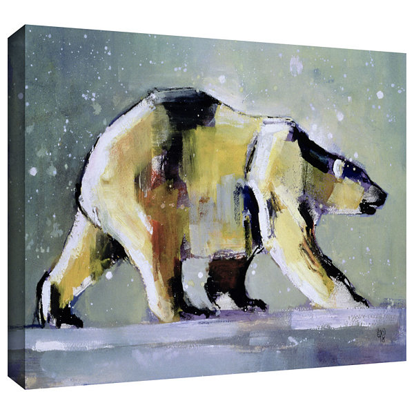 Brushstone Ice Bear Gallery Wrapped Canvas Wall Art