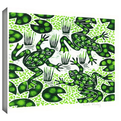 Brushstone Leaping Frogs Gallery Wrapped Canvas Wall Art