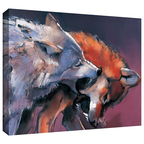 Brushstone Two Wolves Gallery Wrapped Canvas WallArt