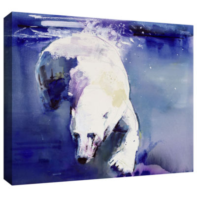 Brushstone Underwater Bear Gallery Wrapped CanvasWall Art