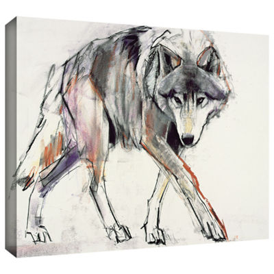 Brushstone Wolf Gallery Wrapped Canvas Wall Art