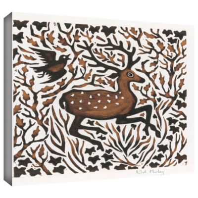 Brushstone Woodland Deer Gallery Wrapped Canvas Wall Art