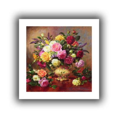 Brushstone Roses From a Victorian Garden Canvas Wall Art