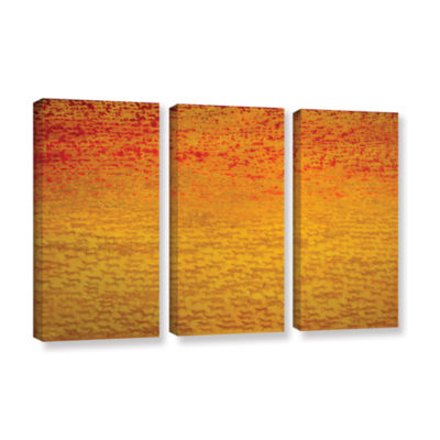 Brushstone About 2500 Tigers 2008 3-pc. Gallery Wrapped Canvas Wall Art