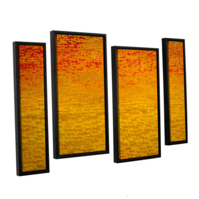 Brushstone About 2500 Tigers  2008 4-pc. Floater Framed Staggered Canvas Wall Art