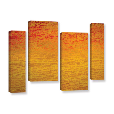 Brushstone About 2500 Tigers  2008 4-pc. Gallery Wrapped Staggered Canvas Wall Art