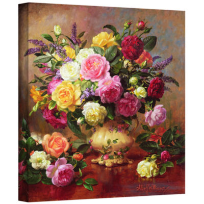 Brushstone Roses From a Victorian Garden Gallery Wrapped Canvas Wall Art