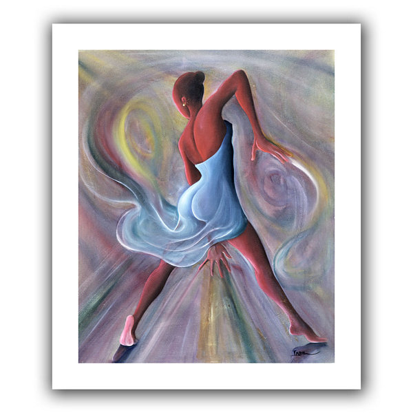 Brushstone Blue Dress Canvas Wall Art