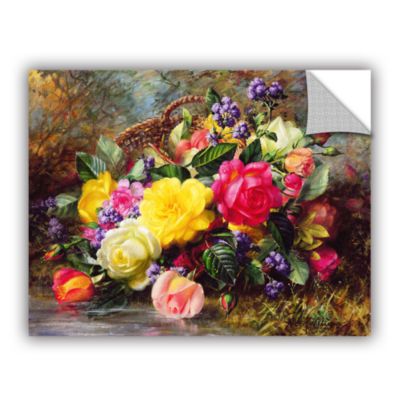 Brushstone Roses From a Victorian Garden RemovableWall Decal