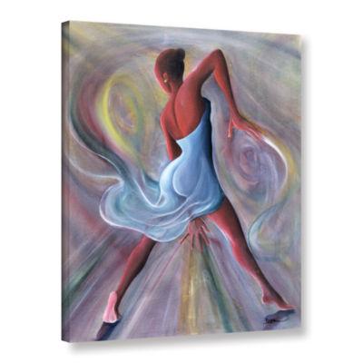 Brushstone Blue Dress Gallery Wrapped Canvas WallArt