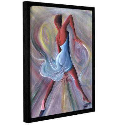 Brushstone Blue Dress Gallery Wrapped Floater-Framed Canvas Wall Art