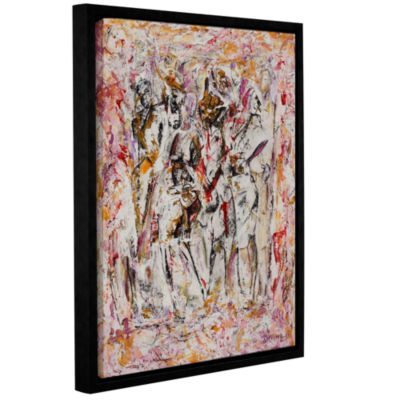 Brushstone Come On Out Gallery Wrapped Floater-Framed Canvas Wall Art