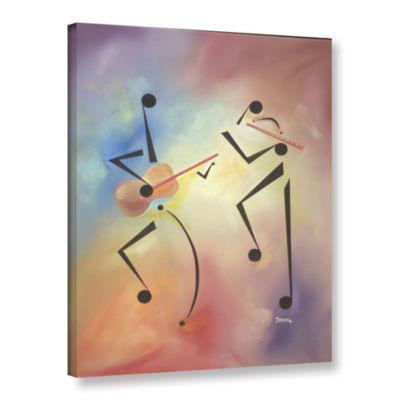 Brushstone Flutina Gallery Wrapped Canvas Wall Art