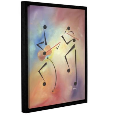 Brushstone Flutina Gallery Wrapped Floater-FramedCanvas Wall Art