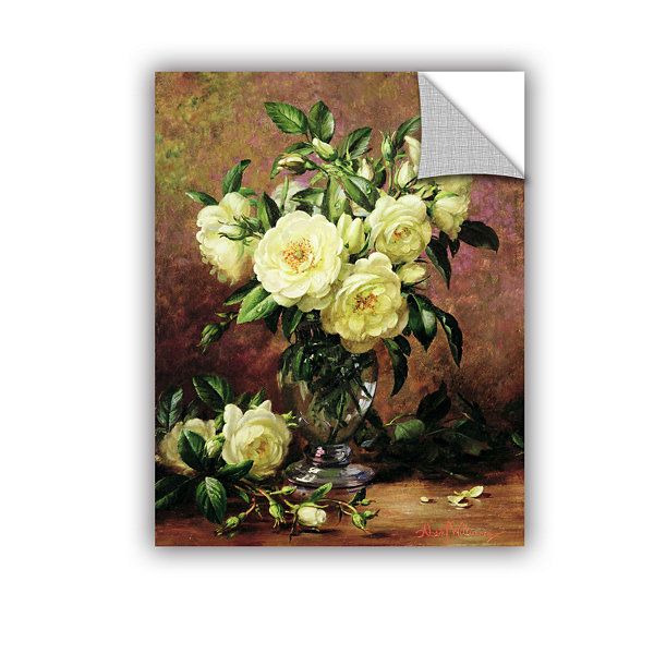 Brushstone White Roses a Gift From The Heart Removable Wall Decal
