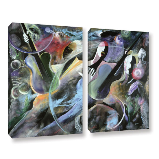 Brushstone Jammin 2-pc. Gallery Wrapped Canvas Wall Art