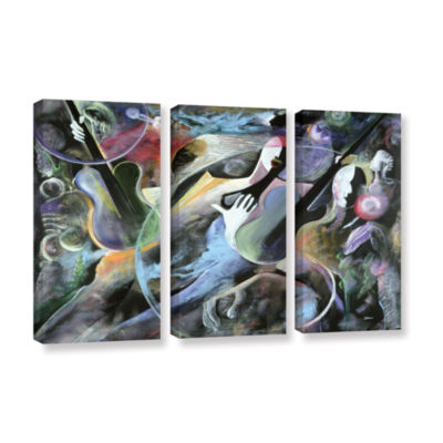 Brushstone Jammin 3-pc. Gallery Wrapped Canvas Wall Art