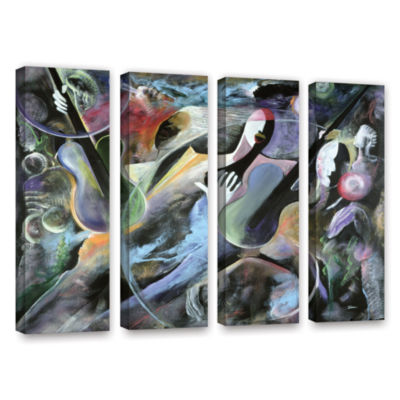 Brushstone Jammin 4-pc. Gallery Wrapped Canvas Wall Art
