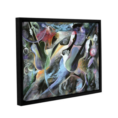 Brushstone Jammin Gallery Wrapped Floater-Framed Canvas Wall Art