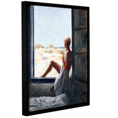 Brushstone Blue Sea Dream Gallery Wrapped Floater-Framed Canvas Wall Art
