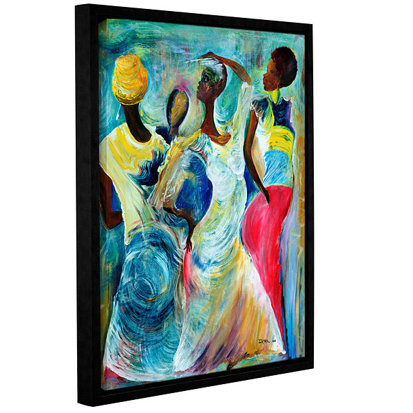 Brushstone Sister Act 2002 Gallery Wrapped Floater-Framed Canvas Wall Art