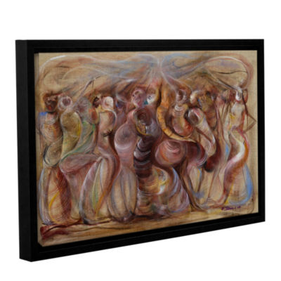 Brushstone Storming Gallery Wrapped Floater-FramedCanvas Wall Art