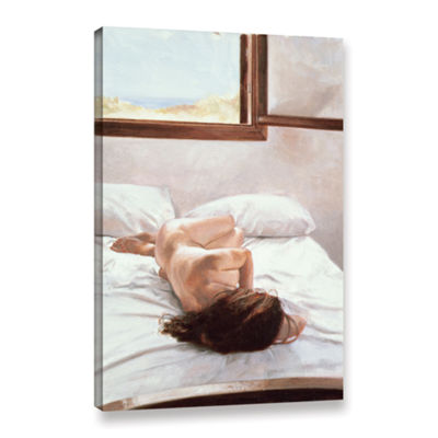 Brushstone Sea Light on Your Body Gallery WrappedCanvas Wall Art