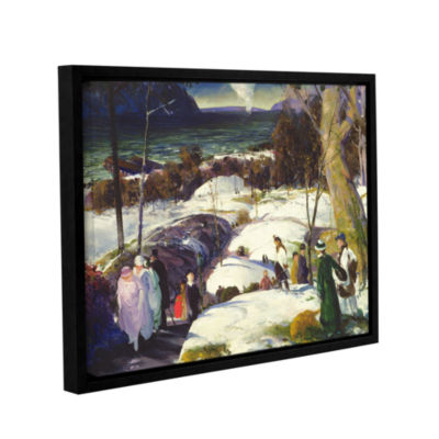 Brushstone Easter Snow 1915 Gallery Wrapped Floater-Framed Canvas Wall Art