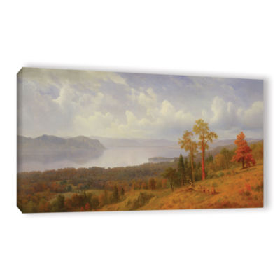 Brushstone View On The Hudson Looking Across The Tappen Zee Towards Hook Mountain  1866 Gallery Wrapped Canvas Wall Art