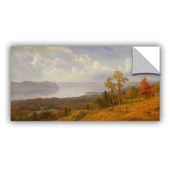 Brushstone View On The Hudson Looking Across The Tappen Zee Towards Hook Mountain 1866 Removable Wall Decal