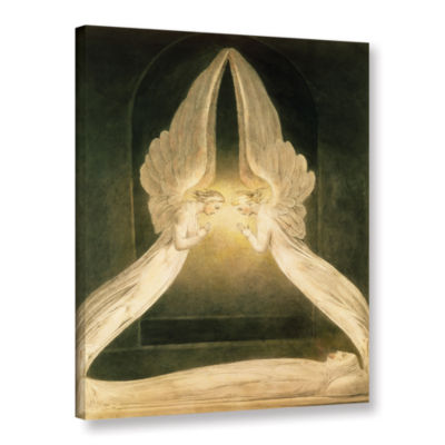 Brushstone Christ in The Sepulchre  Guarded by Angels Gallery Wrapped Canvas Wall Art