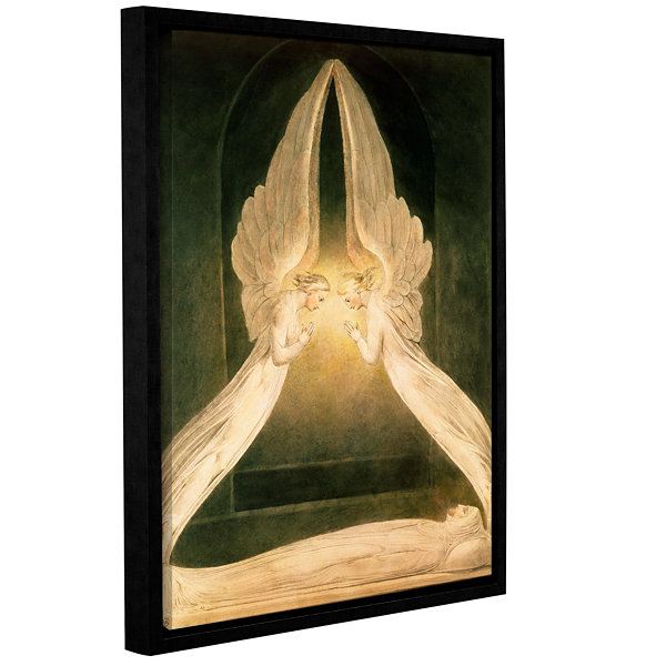 Brushstone Christ in The Sepulchre  Guarded by Angels Gallery Wrapped Floater-Framed Canvas Wall Art