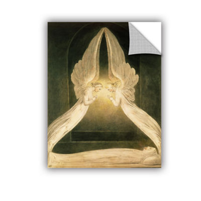 Brushstone Christ in The Sepulchre Guarded by Angels Removable Wall Decal