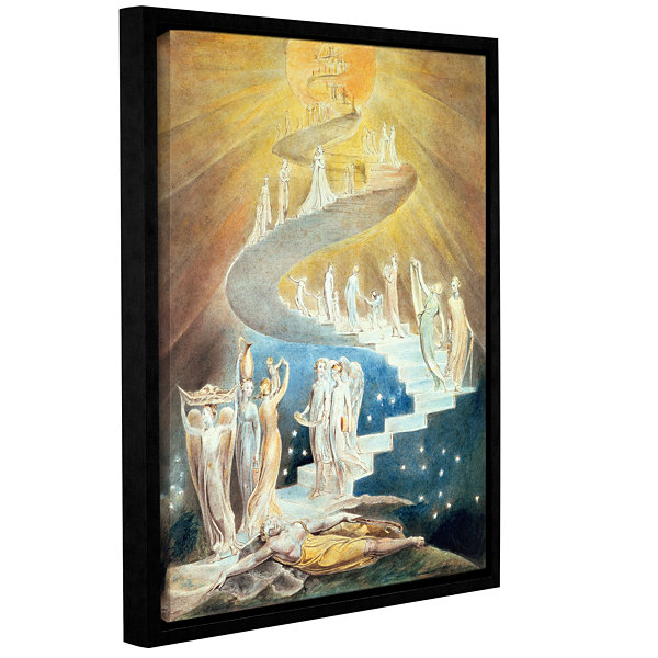 Brushstone Jacob's Ladder Gallery Wrapped Floater-Framed Canvas Wall Art