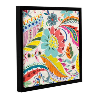 Brushstone Boho Paisley I Gallery Wrapped Floater-Framed Canvas Wall Art