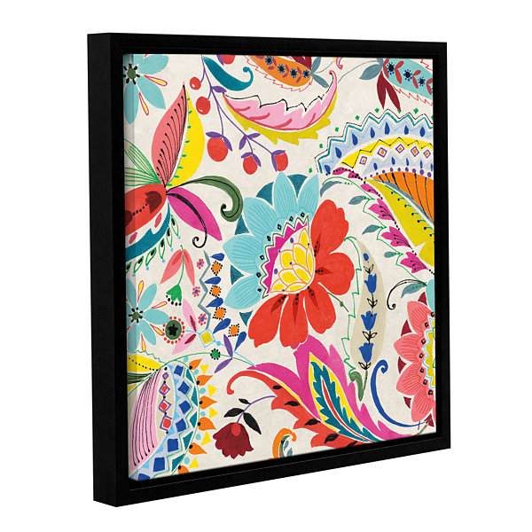 Brushstone Boho Paisley II Gallery Wrapped Floater-Framed Canvas Wall Art