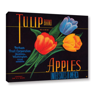 Brushstone Tulip Brand Apples Gallery Wrapped Canvas Wall Art
