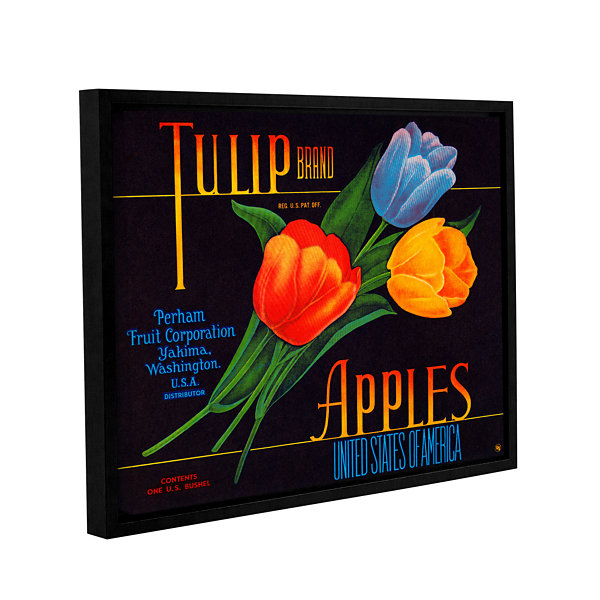 Brushstone Tulip Brand Apples Gallery Wrapped Floater-Framed Canvas Wall Art