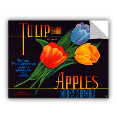 Brushstone Tulip Brand Apples Removable Wall Decal