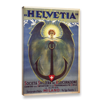 Brushstone Helvetia Poster Gallery Wrapped CanvasWall Art
