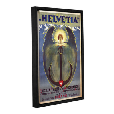 Brushstone Helvetia Poster Gallery Wrapped Floater-Framed Canvas Wall Art