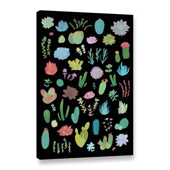 Brushstone Succulent Chart I Gallery Wrapped Canvas Wall Art