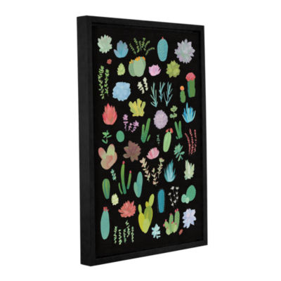 Brushstone Succulent Chart I Gallery Wrapped Floater-Framed Canvas Wall Art