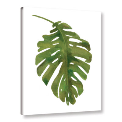 Brushstone Tropical Palm I Gallery Wrapped CanvasWall Art