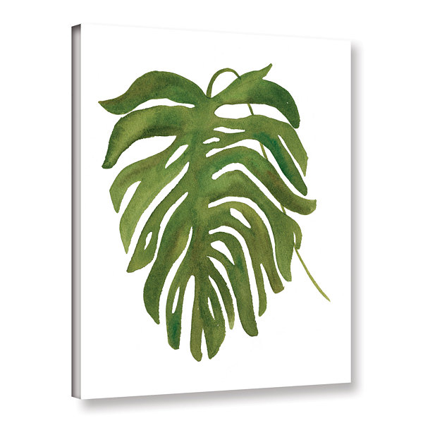 Brushstone Tropical Palm II Gallery Wrapped CanvasWall Art