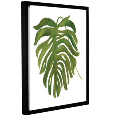 Brushstone Tropical Palm II Gallery Wrapped Floater-Framed Canvas Wall Art