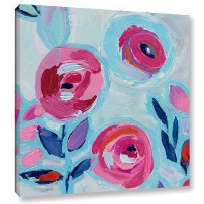 Brushstone Wall Flower III Gallery Wrapped CanvasWall Art