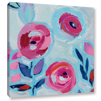Brushstone Wall Flower III Gallery Wrapped CanvasWall Art