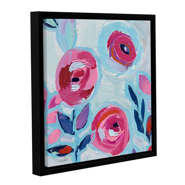 Brushstone Wall Flower III Gallery Wrapped Floater-Framed Canvas Wall Art