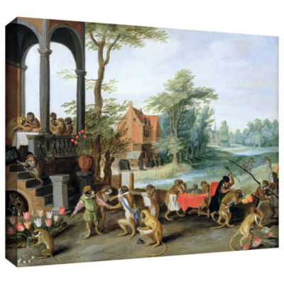 Brushstone A Satire of The Folly of Tulip Mania Gallery Wrapped Canvas Wall Art